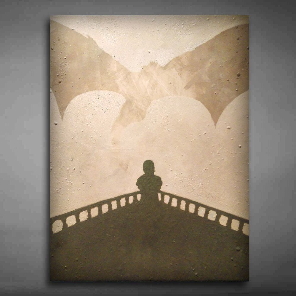 Game Of Thrones Canvas Art Painted Using Stencils Coffee