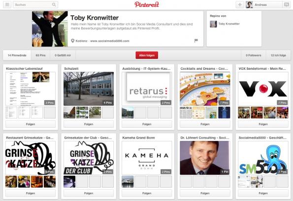 Online Bewerbung Wie Man Sein Pinterest Board Zum Lebenslauf Macht
