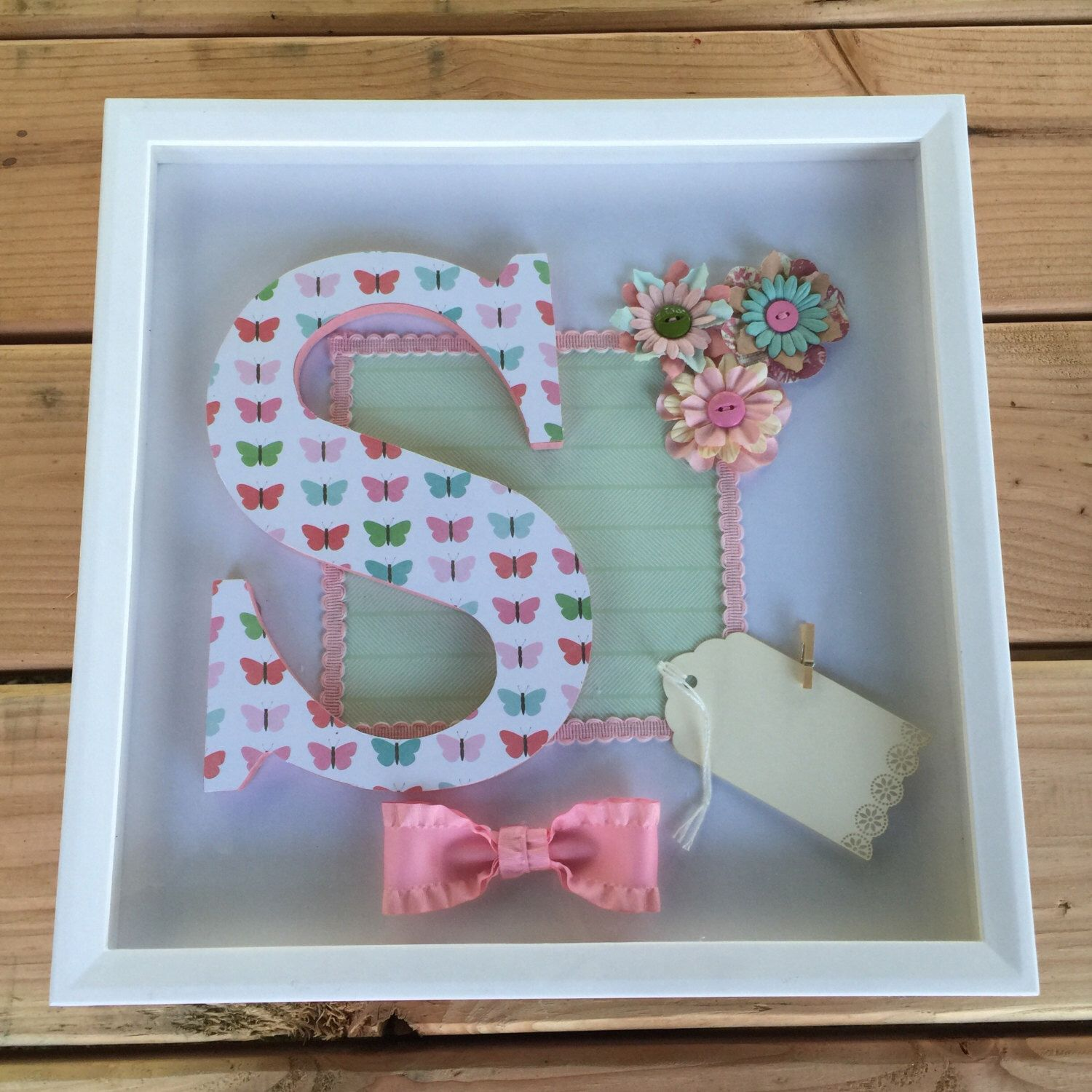 Shadow Box For Girl, Letter S 12\