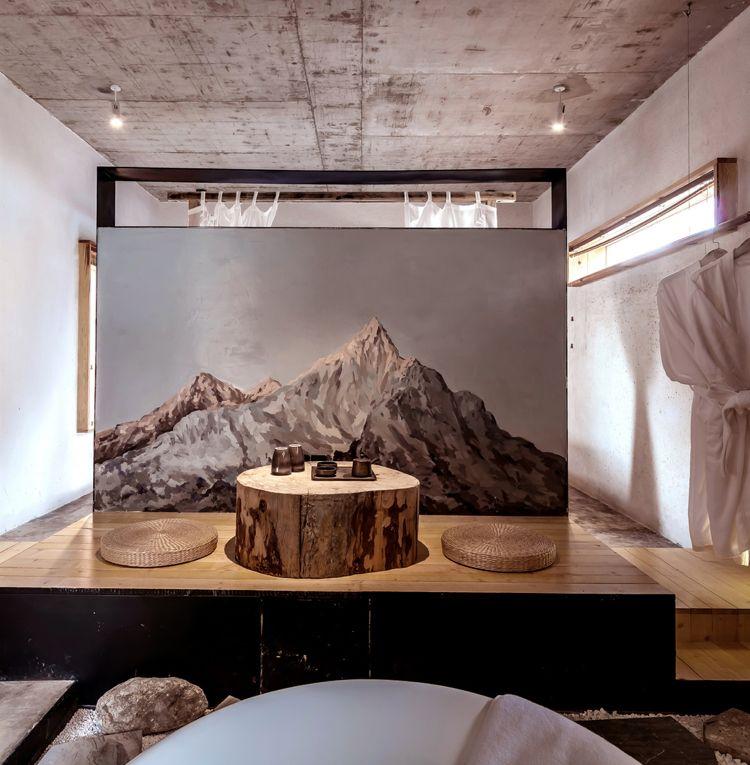 Uberlegen Zen Design Und Indirekte Beleuchtung In Perfekter Verbindung U2013 Karesansui  Hotel In China #anthrazit #hotelzimmer #naturmaterialien #festung #beton  #mallorca ...