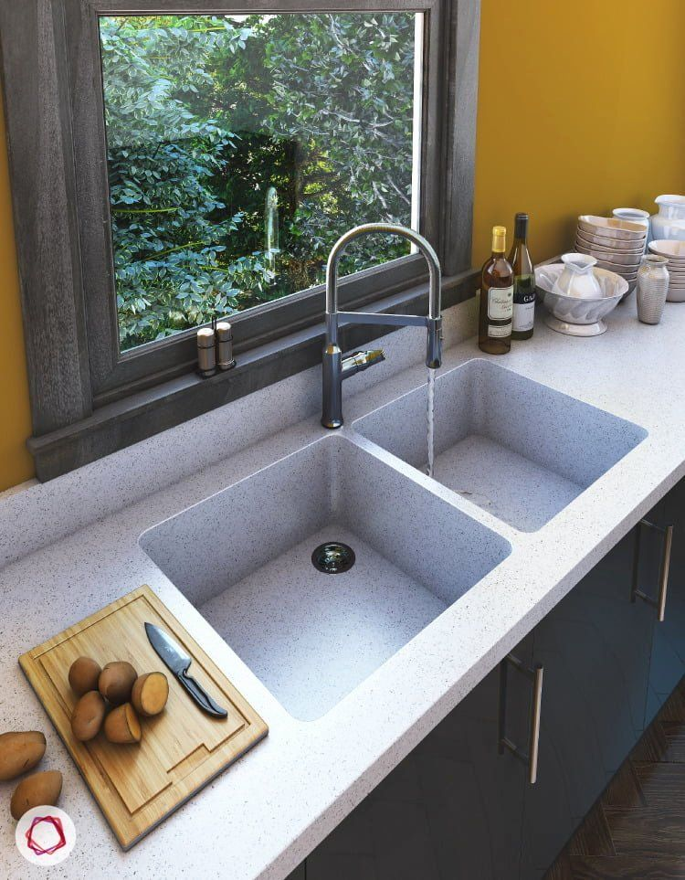 Best Material For A Kitchen Sink Awesome Types Of Kitchen Sinks Available In India In 2020 Kitchen Sink Design Best Kitchen Sinks Sink Design