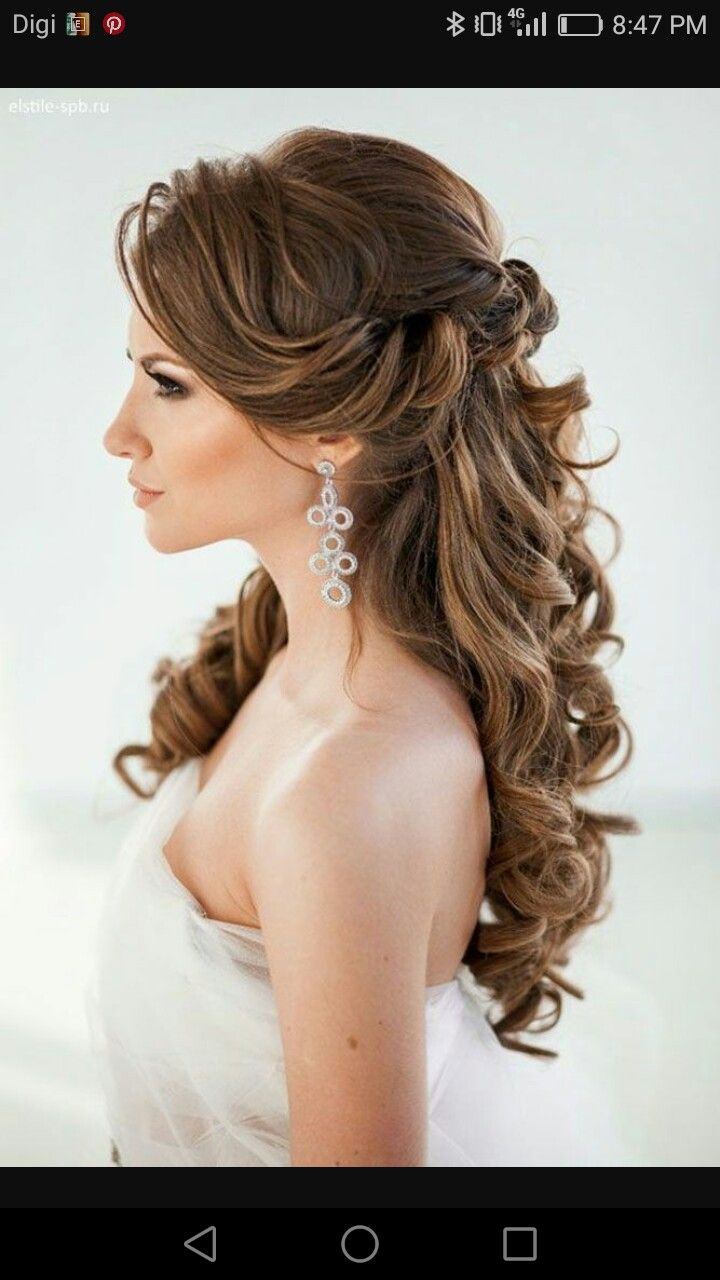 pin by minoo raj on hairstyles | wedding hair down, long