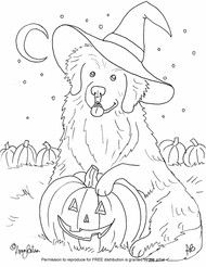 halloween pet coloring pages - photo#13