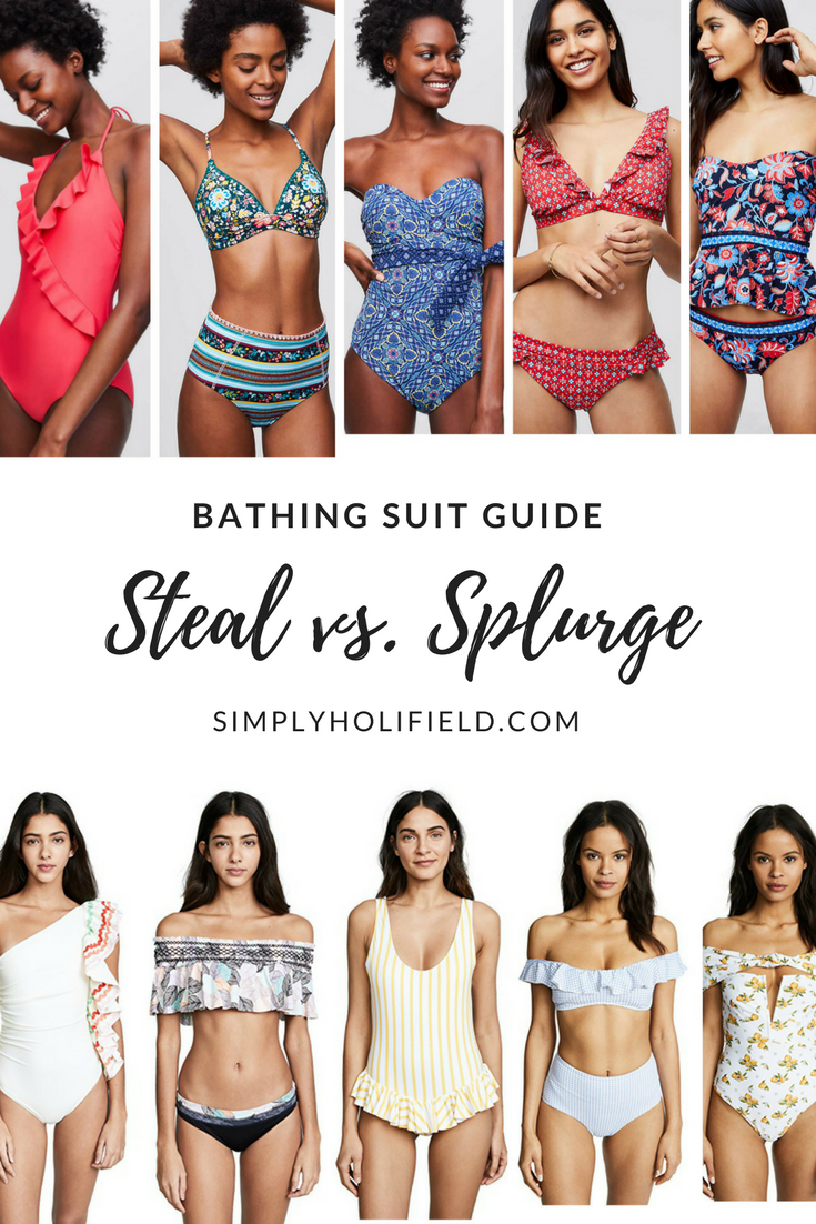 405b6abf16c58 Women s Bathing Suits. Women s Swimsuit Guide  Steal vs. Splurge. 2018  Swimsuits for everyone s budget.