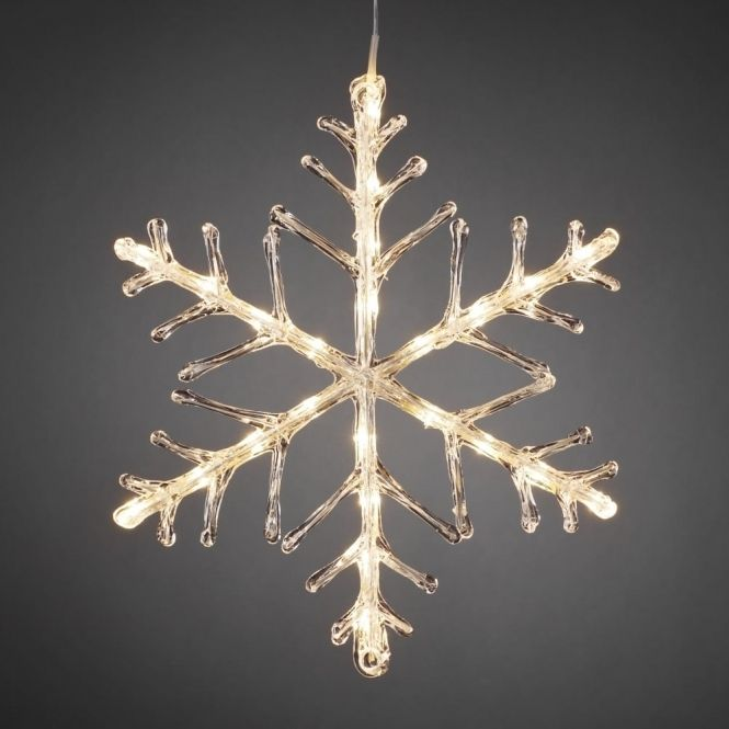 Hurn  Hurn Discoveries Snowflake Outdoor Christmas Light 40cm Warm