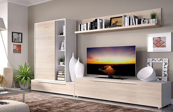 Composiciones De Salon 270 Cm 045 126 Muebles Boom Living Room Tv Cabinet Modern Living Room Wall Living Room Tv Wall