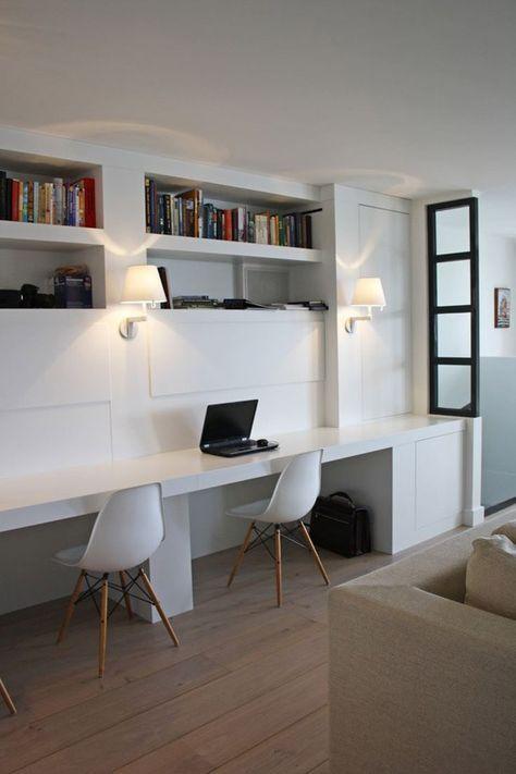 Een mooie werkplek in de woonkamer | bureau | Pinterest | Mud rooms ...