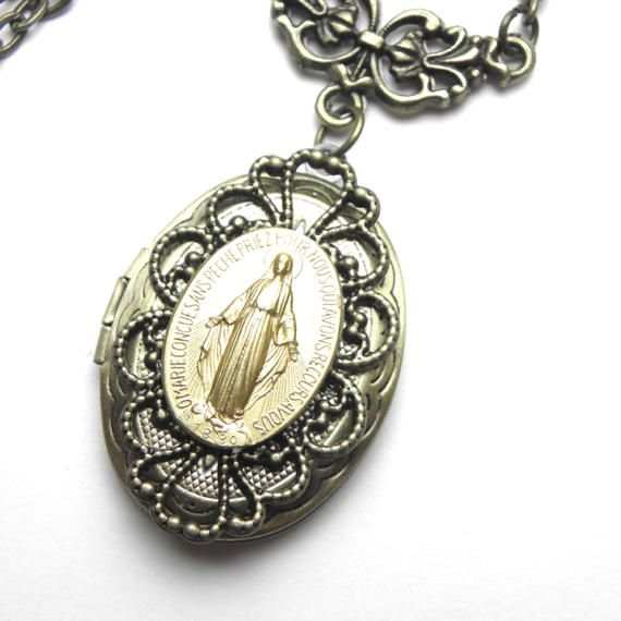 Vintage 1900s Miraculous Virgin Mary Necklace