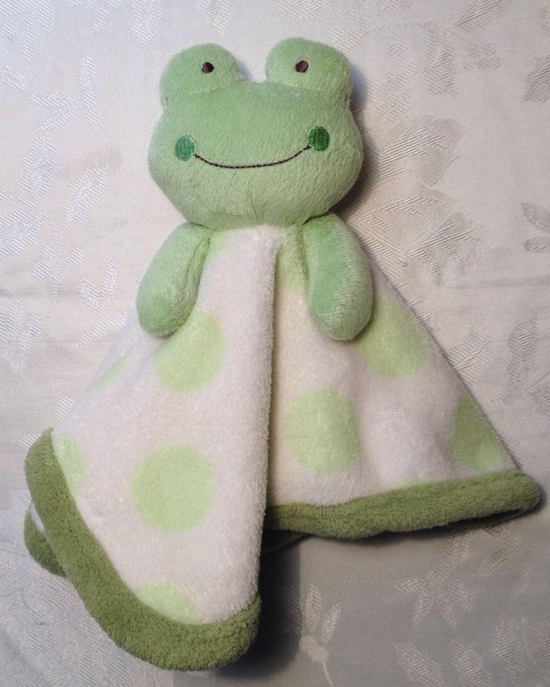 Htf Lovey Koala Baby Frog Green Security Blanket White