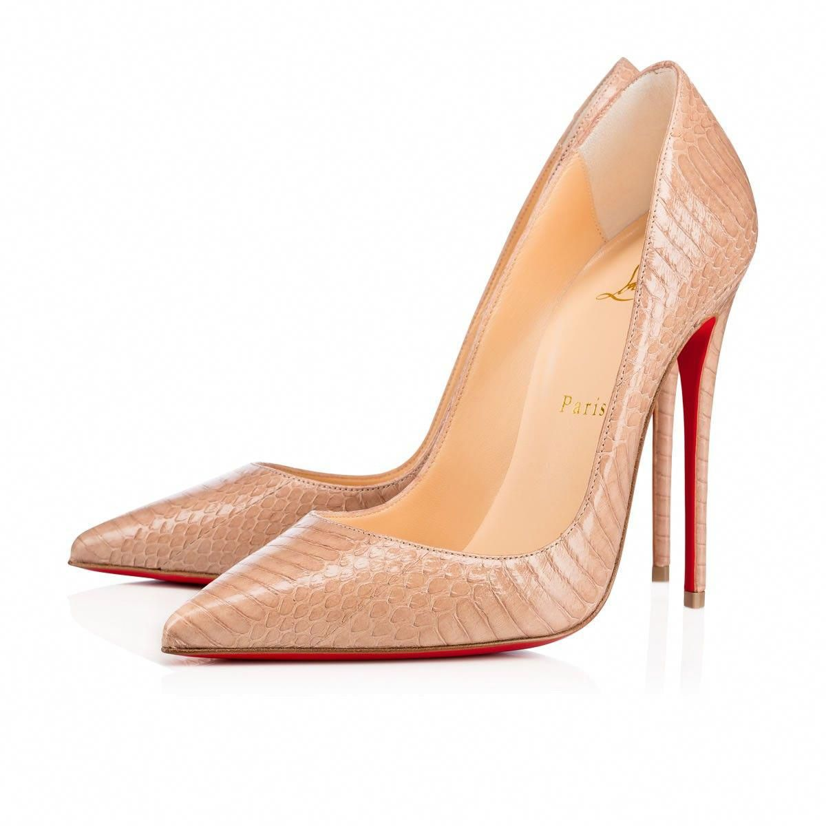 217d8f955 CHRISTIAN LOUBOUTIN So Kate 120 Nude Watersnake - Women Shoes - Christian  Louboutin. #christianlouboutin #shoes #