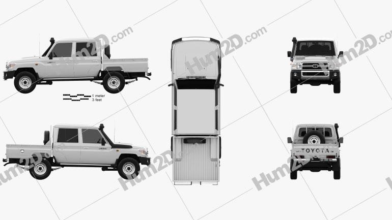 Toyota Land Cruiser J79 Double Cab Pickup 2012 Clipart Toyota Land Cruiser Land Cruiser Clip Art