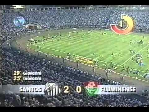 Santos 5 x 2 Fluminense - Semi Final Brasileirão 1995 - 480p