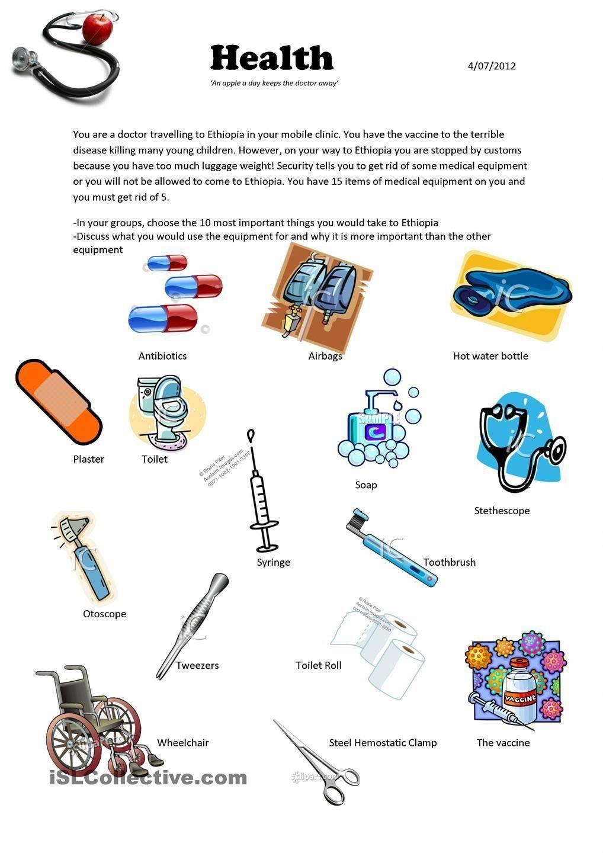 Tiresome Medical Equipment Technology Medicalaesthetics Medicalequipmentlogo Vocabulary Activities Medical Supplies Worksheets For Kids