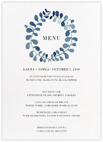 wedding program and menu cards online and paper paperless post