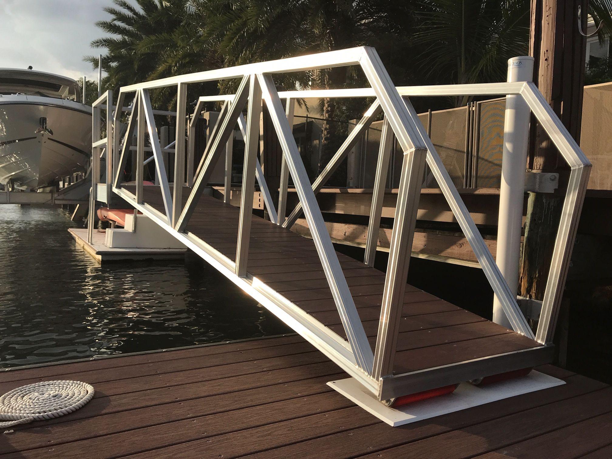 Aluminum gangways floating dock outdoor decor cabin