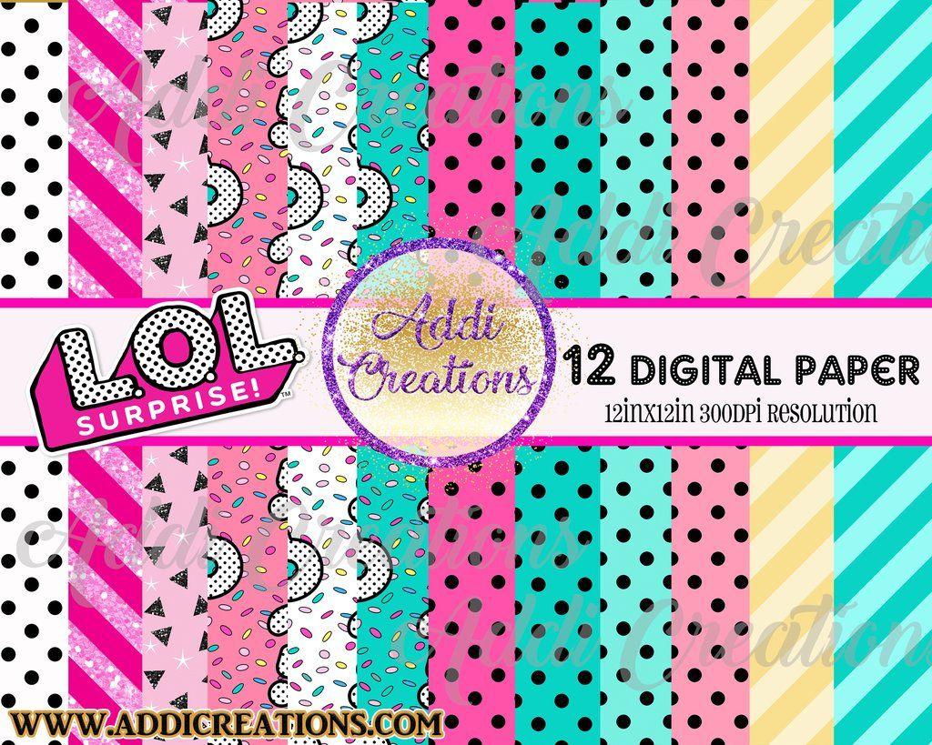 Lol Surprise Digital Paper, Instant Download, Digital