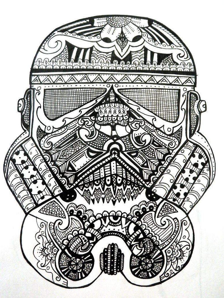 b9cf446b Stormtrooper Sugar Skull by ~RoseRed66 on deviantART | art | Star ...
