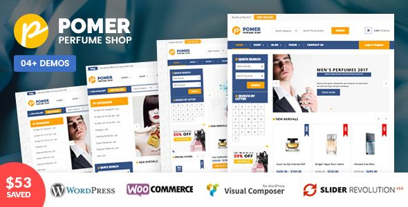 VG Pomer - Perfume Store WooCommerce WordPress Theme