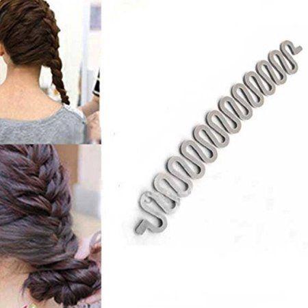 Diy French Hair Braiding Twist Tool Braider Roller Hook For Women Beige French Twist Hair Hair Braiding Tool Hair Braider Tool