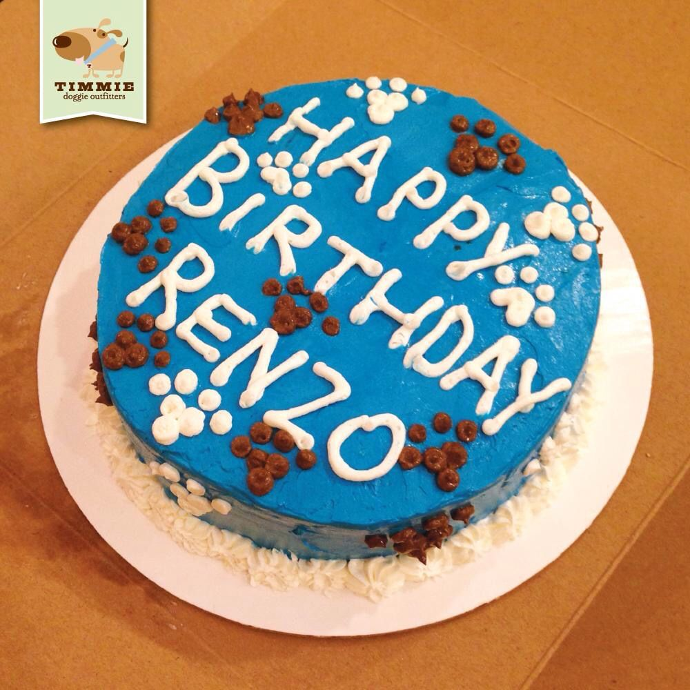 Happy Birthday Renzo Special Delivery Cake From Trixies Kitchen TimmieDoggieOutfitters TimmieWholesomeFood