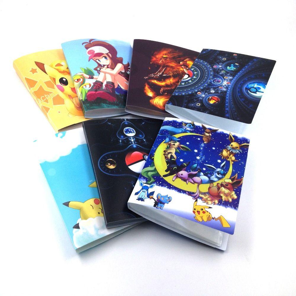 7 stijl pokemon kaarten album 112 speelkaarten houder