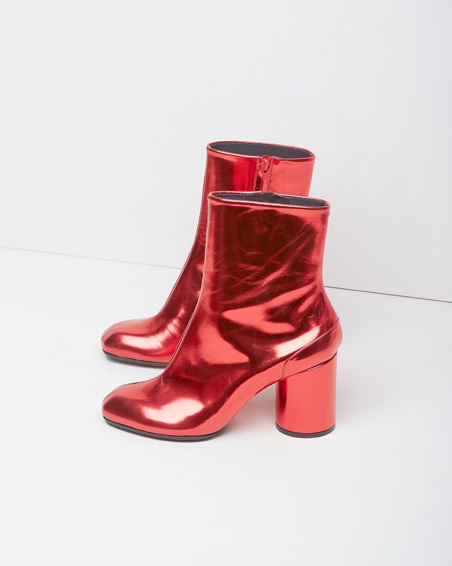 9aec8815340 Maison Martin Margiela Line 22   Foil Ankle Boot  fw14