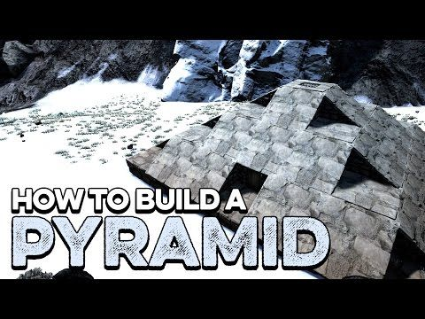 How To Build A Pyramid Base Ark Survival Evolved Tutorial Guide - fresh ark oviraptor blueprint