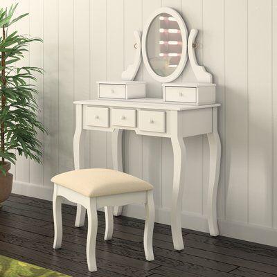Old Desk Turned Into Super Cute Vanity Diy Furniture