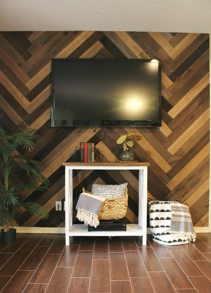 How To Install A Barn Wood Wall In Herringbone Pattern Gorgeous Accent And It S So Easy Do