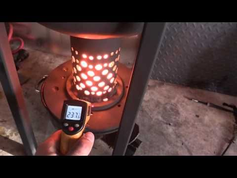 How to build gravity drip feed waste oil heater burner for Heater that burns used motor oil