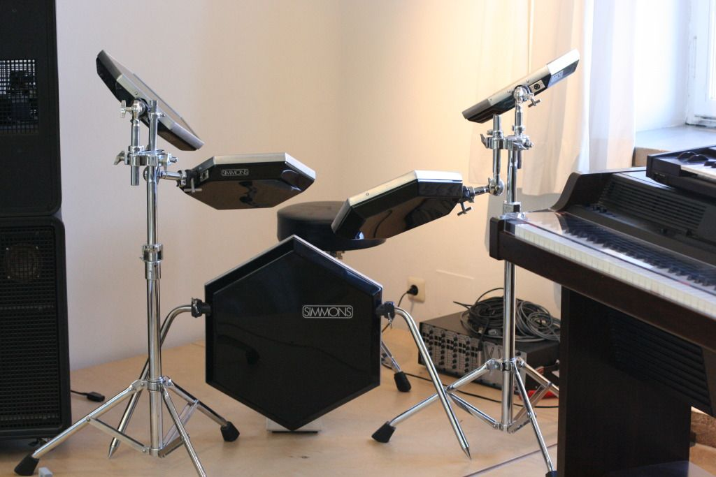 Bill Bruford S Monster Simmons Rig Monsterkitmonday Bill Bruford Electric Drum Set Drums