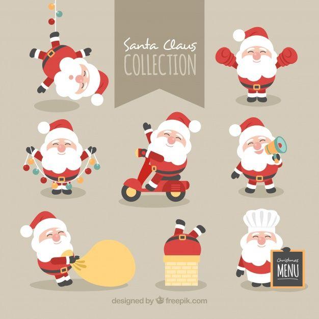 Coleção de adorável personagem de Papai Noel | Imprimibles