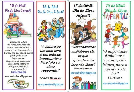 Dia Nacional Do Livro Infantil 18 De Abril Com Imagens Dia