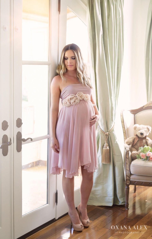 Chiffon Maternity Gown Annabella Gown Short Chiffon Maternity Dress ...