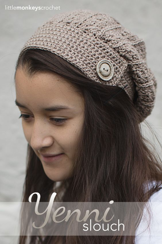 Yenni Slouch Hat Pinterest Slouchy Hat Hat Crochet And Monkey