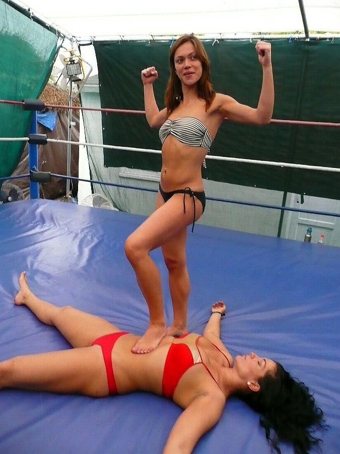 Women Wrestling Victory Pose