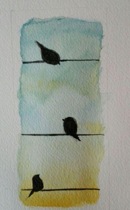 Idee Par Safaa Rouissi Sur Dssn Aquarelle Facile Peintures A L