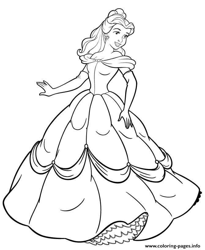 Print Princess Belle Coloring Pages Belle Coloring Pages Cute