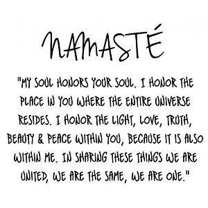 Muursticker Yoga tekst Namaste 2