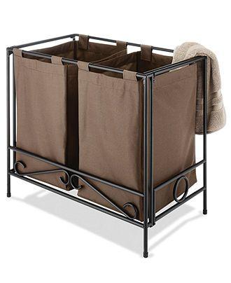 Whitmor Laundry Hamper Wrought Iron Folding Laundry