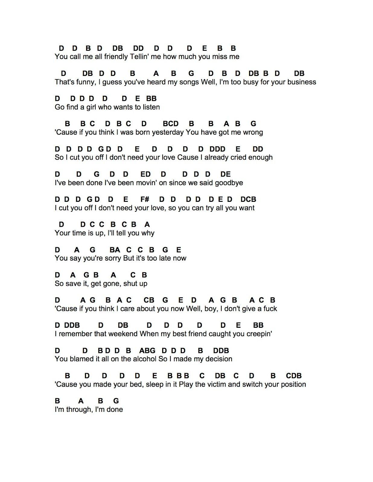 Idgaf Dua Lipa Flute Sheet Music Pop Piano Sheet Music Easy