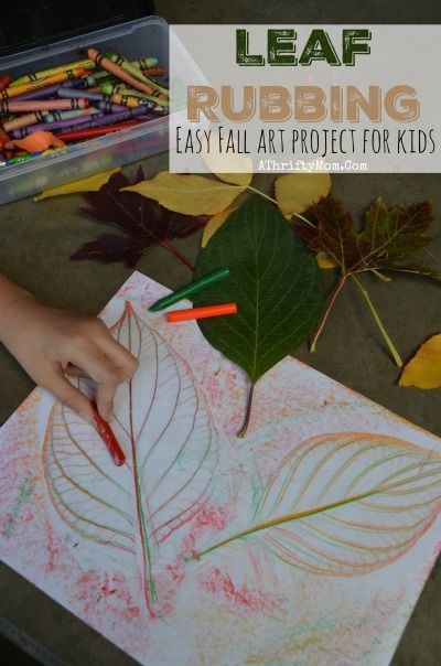 Easy Fall Art Projects For Kids ~ Leaf Rubbing, school craft