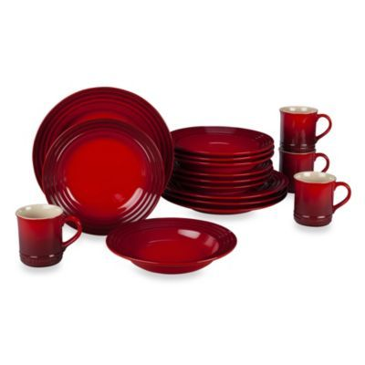 Buy Le Creuset® 16-Piece Dinnerware Set in Cherry from Bed Bath \u0026 Beyond  sc 1 st  Pinterest & Le Creuset 16-Piece Dinnerware Set in Cherry | Dinnerware Cherries ...
