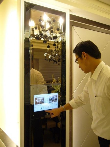 Interactive, touch-enabled mirrors can be installed in bathrooms