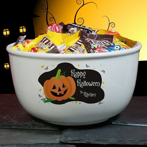 23273fea4ba Happy Halloween Personalized Ceramic Candy Bowls. Be sure to greet all the  little Ghosts and Goblins this Halloween with our Personalized Halloween  Ceramic ...