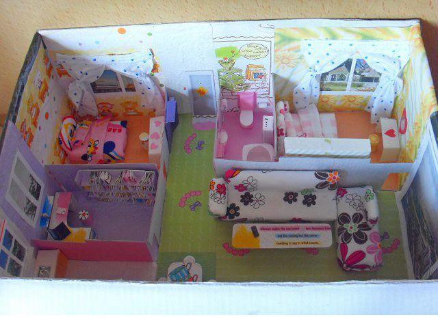D I Y Dollhouse Inspiration Cardboard Dollhouse Dollhouse