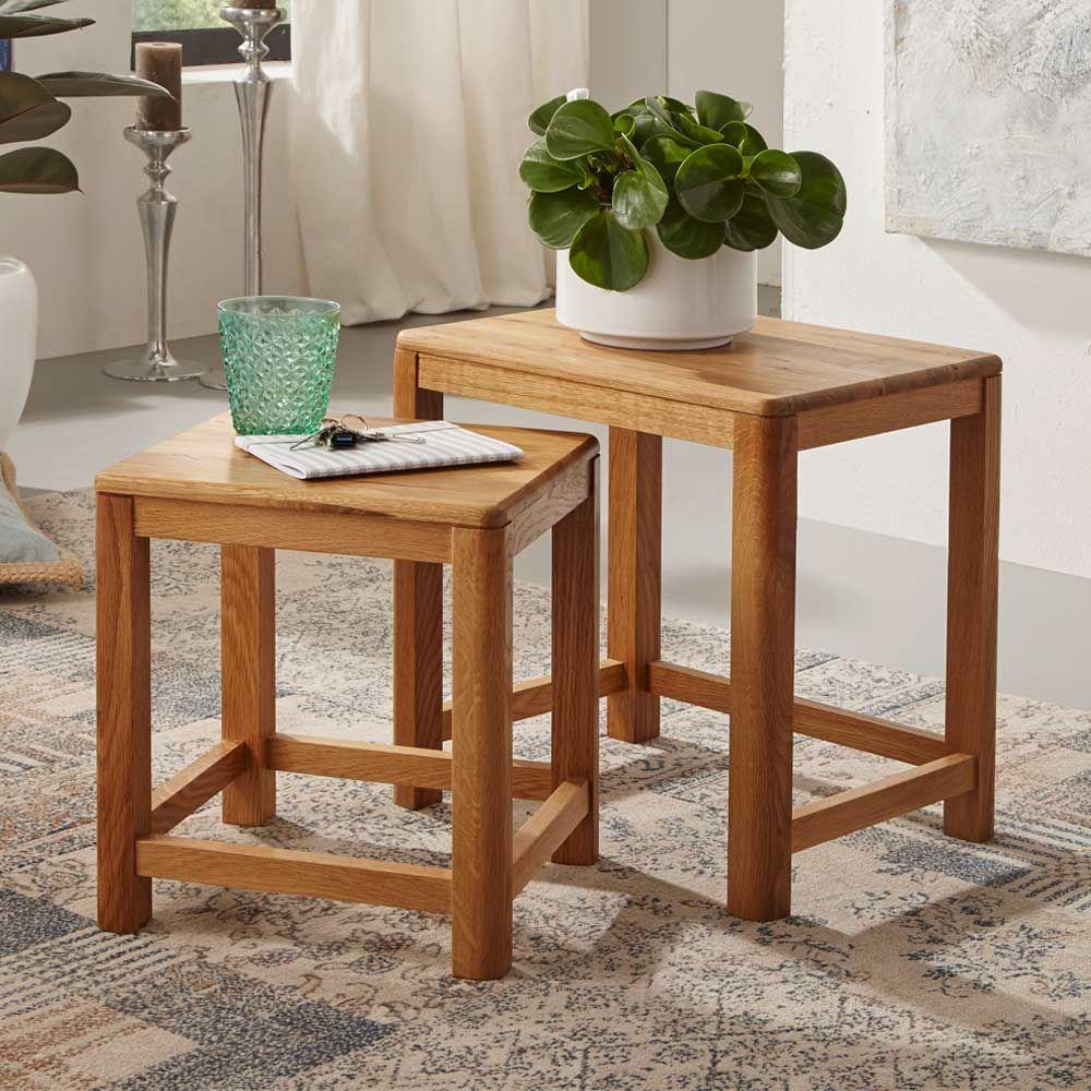Tisch set aus wildeiche massivholz geölt 2 teilig jetzt bestellen unter https