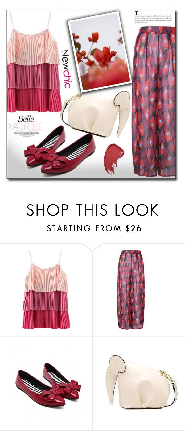 """""""Newchic 8"""" by dorinela-hamamci ❤ liked on Polyvore featuring GUINEVERE, shirtdress, newchic and lovenewchic"""