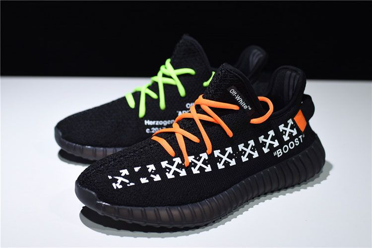 7beb514581627 OFF White x Adidas Yeezy 350 V2 Boost The Ten men and women running shoes  black