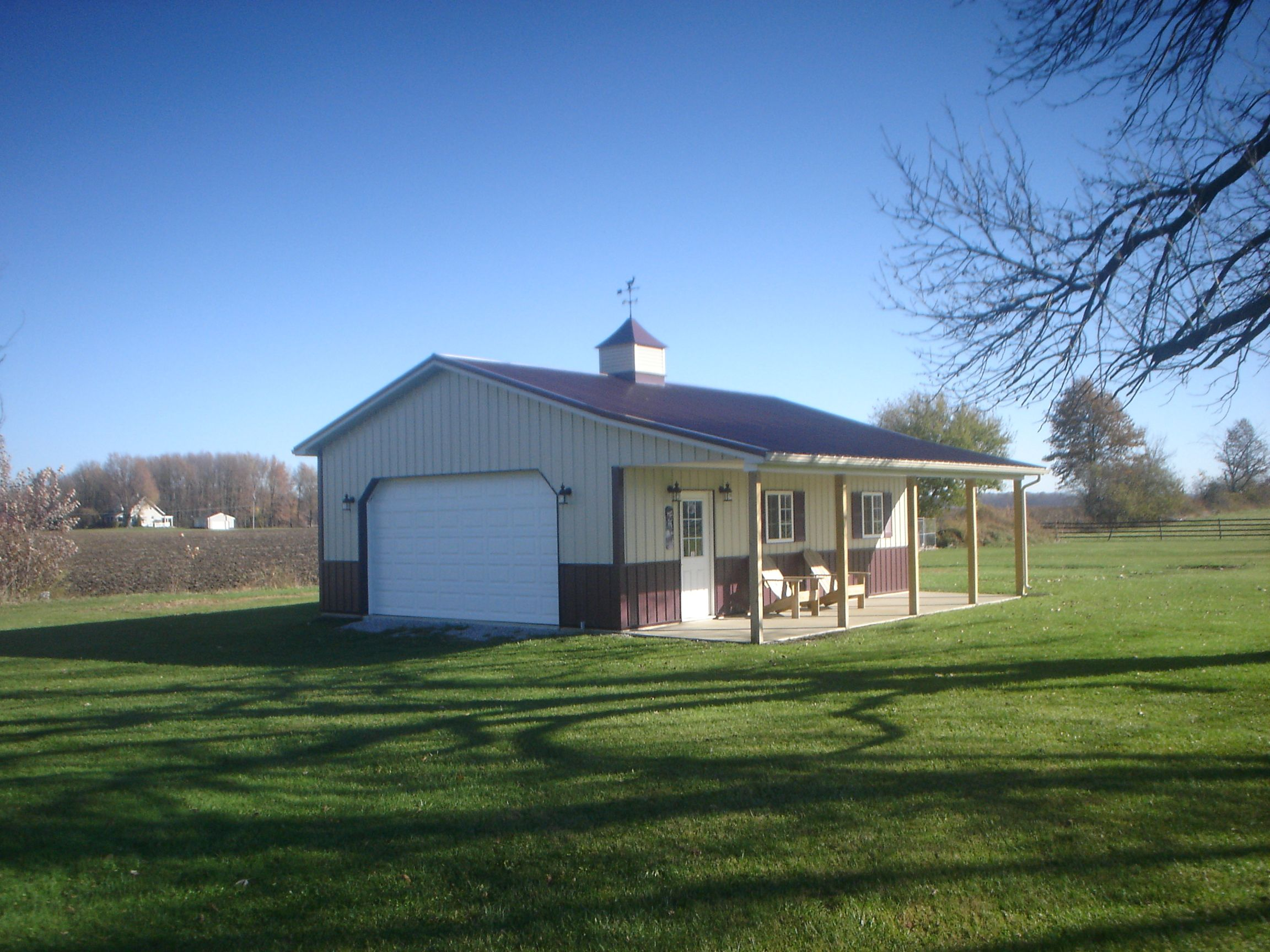 24x32 pole building completed near bucyrus ohio pole